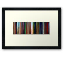 Moviebarcode: The Lion King (1994) Framed Print