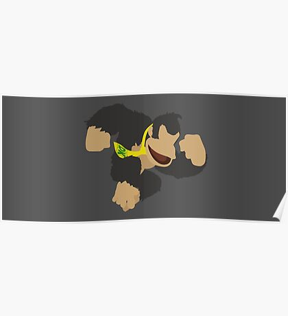 Donkey Kong (Black) - Super Smash Bros. Poster
