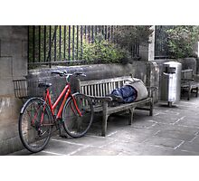 Sleeping Rider - An Oxford City street at Noon Photographic Print