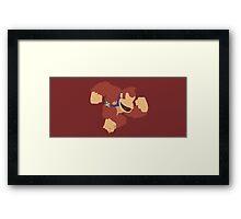 Donkey Kong (Red) - Super Smash Bros. Framed Print