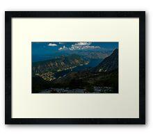 Kotor Bay in Montenegro Framed Print