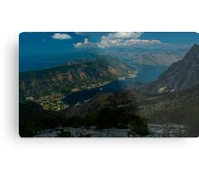Kotor Bay in Montenegro Metal Print