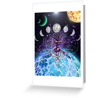 Space Tree of Life Greeting Card