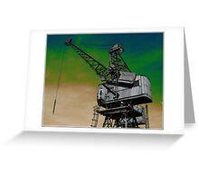 Waterside Crane Greeting Card