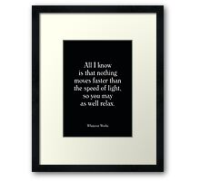 Whatever Works - Woody Allen's Greatest Lines Framed Print