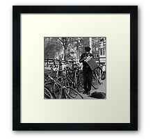 Music for the bicycles Framed Print