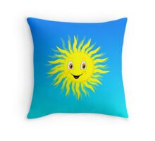 Sunshine In Blue Sky Throw Pillow