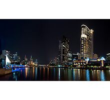 Melbourne at night . Photographic Print