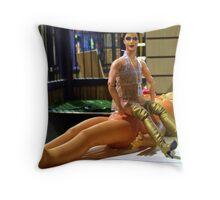 Gold Thigh Highs - Camden Market Stall Throw Pillow