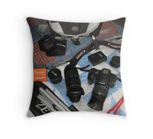 My Camera Equipment Throw Pillow