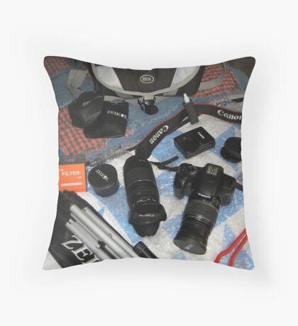 My Camera Equipment Throw Pillow