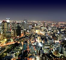 Osaka by Night by Digital Editor .
