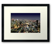 Osaka by Night Framed Print