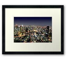 Osaka by Night Framed Print