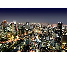 Osaka by Night Photographic Print