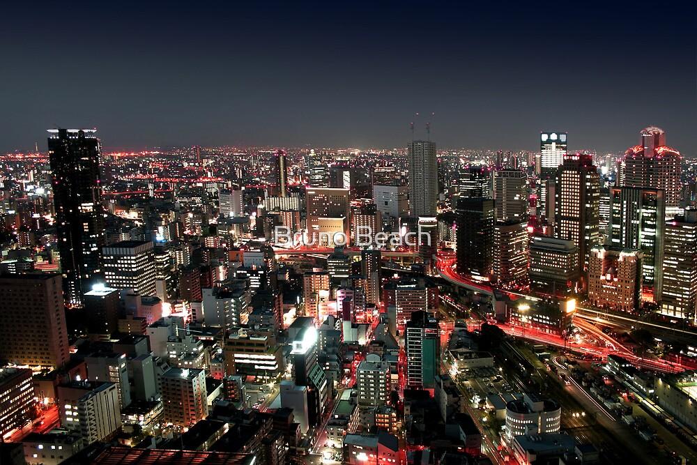 Osaka city by Night by Bruno Beach
