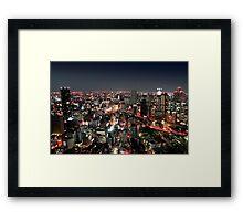 Osaka city by Night Framed Print