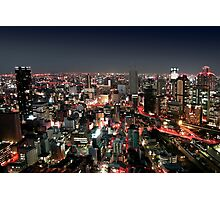 Osaka city by Night Photographic Print