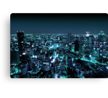 Osaka City by Night Canvas Print