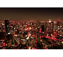 Osaka by Night - Japan Photographic Print