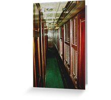 Corridor Blinds Greeting Card