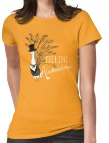 Peacock & Prejudice Womens Fitted T-Shirt