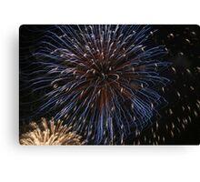 Fireworks over Tokyo - Hanabi in august Canvas Print
