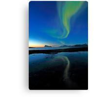 Aurora Borealis over Haja island Canvas Print