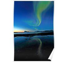 Aurora Borealis over Haja island Poster