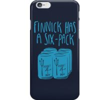 The Swimmer Has a Six-Pack (Light Blue) iPhone Case/Skin