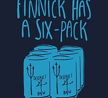 Finnick Has a Six-Pack (Light Blue) by 4everYA