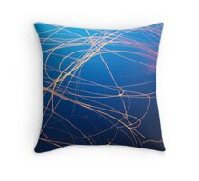 Orange Jellyfish in Osaka Aquarium Throw Pillow