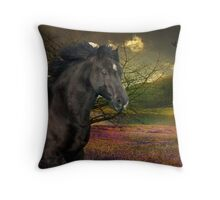 Marny In The Field Of Springtime Colours Throw Pillow