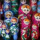 Matrioshka, russian set of dolls by Nasko .