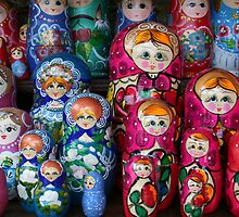 Matrioshka, russian set of dolls by Atanas Bozhikov NASKO