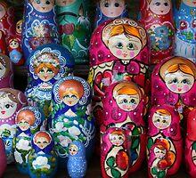 Matrioshka, russian set of dolls by Atanas Bozhikov