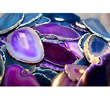 Purple Stones Photographic Print
