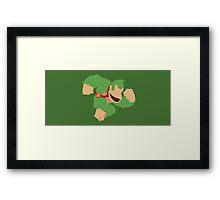 Donkey Kong (Green) - Super Smash Bros. Framed Print