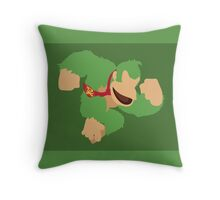 Donkey Kong (Green) - Super Smash Bros. Throw Pillow