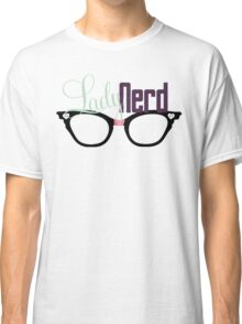 Proud LadyNerd (Black Glasses) Classic T-Shirt