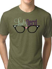 Proud LadyNerd (Black Glasses) Tri-blend T-Shirt