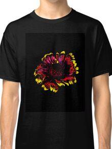Blanket flower on black background Classic T-Shirt
