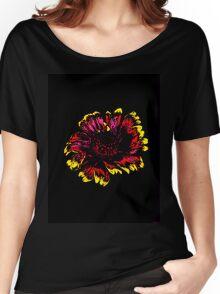Blanket flower on black background Women's Relaxed Fit T-Shirt
