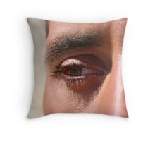 Face close up Throw Pillow
