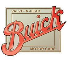 Buick valve in head vintage sign reproduction Photographic Print