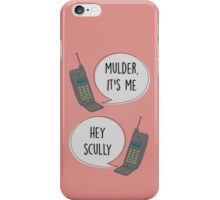 Mulder & Scully 90's phone iPhone Case/Skin