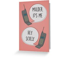 Mulder & Scully 90's phone Greeting Card