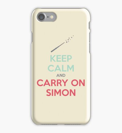 Keep Calm and Carry On Simon (Multi-Color Text) iPhone Case/Skin
