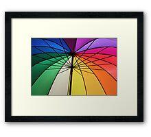 Gay Umbrella Framed Print