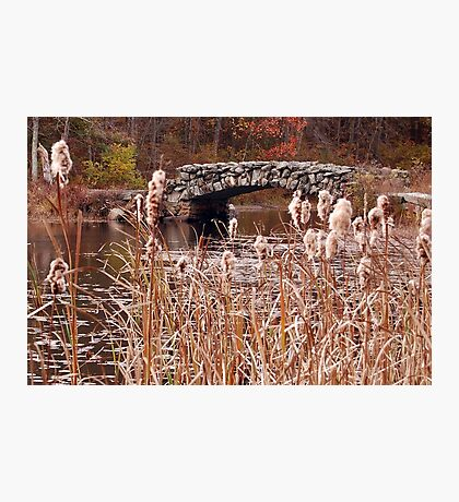 The Stone Bridge at Hopedale Pond  Photographic Print